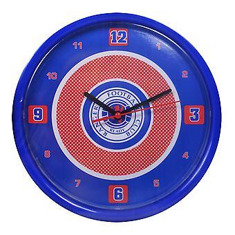Rangers FC Official Bullseye Football Crest Wall Clock