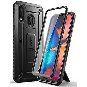 SupCase Unicorn Beetle Pro Series Case Designed for Samsung Galaxy A20 /A30, Full-Body Rugged Holster & Kickstand Case with Built-in Screen Protector (Black)