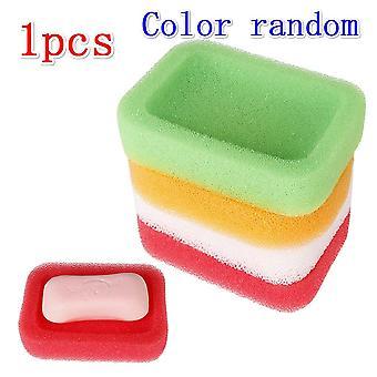Hot New Candy Color Sponge Savon Assiette à vaisselle, Kit de salle de bains