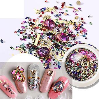 Glitter 3d Rhinestones Flat Shiny Stones Nail Art Decorations