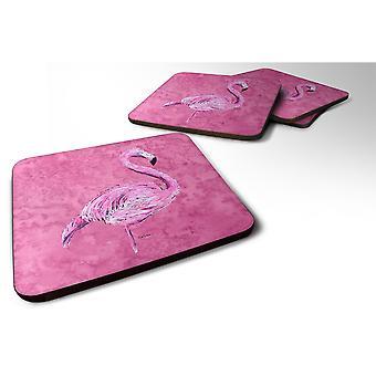 Caroline's Treasures 8875FC Flamingo su pink foam coasters (Set di 4), 3.5 H x 3.5 W, Multicolor