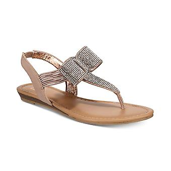 Material Girl Womens Seana Fabric Open Toe Special Occasion Slingback Sandals