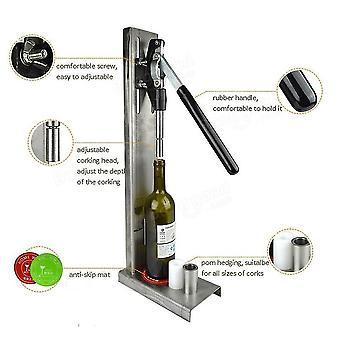 Manual Bottle Corking Machine Home Brew Wine Bottle Cap Pressing Machine 4 Pom Heads