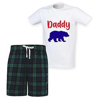 Herre Daddy Bear Tartan Kort Pyjamas Sæt