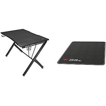 Trust Gaming Tisch - GXT 711 Dominus Ergonomischer Gaming Schreibtisch mit Kabelmanagementsystem,