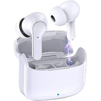 Bluetooth-oortelefoons, Bluetooth 5.0 draadloze waterdichte IP7-stereooordopjes met touch control en oplaadcase, ingebouwde microfoons voor Android en iOS