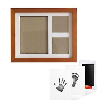 Baby Footprint Kit Handprint Picture Frame With Safe And Non-toxic Ink Pad