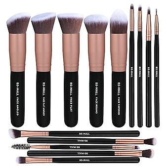 BS01 - BS-MALL 14 st. exklusiva Make-up / sminkborstar av Bästa Kvalité