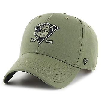 47 Brand Adjustable Cap - RIPSTOP GRID Anaheim Ducks olive