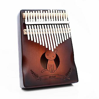 17 Keys Kalimba Thumb Piano Cute Cat Paint Musical Instrument For Music Lovers