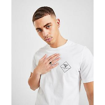 New Barbour Beacon Men's Box Logo T-Shirt from JD Outlet White