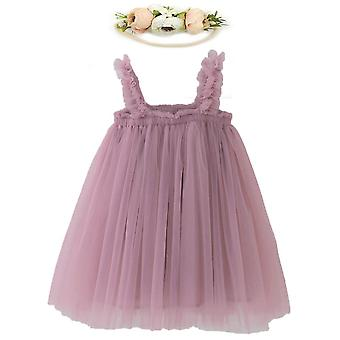 שמלת תינוק, שמלת הדפס קשת חוף מזדמנת לתינוק