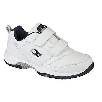 DEK Ohio Mens Leather Touch Fasten Shoes White
