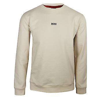 Hugo boss men's light beige weevo 2 sweatshirt