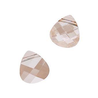 Swarovski Kristall, #6012 Briolette Anhänger 11x10mm, 2 Stück, Crystal Golden Shadow