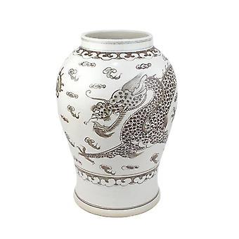 كوريا نمط التنين البني نمط اليد رسم مزهرية السيراميك