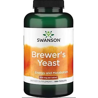 Swanson Brewer's Yeast 500 mg 500 Tablets