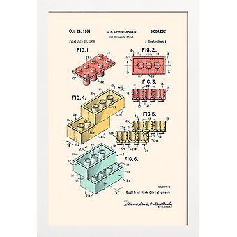 JUNIQE Print -  Lego PRINT Colors - Kinderzimmer & Kunst für Kinder Poster in Bunt