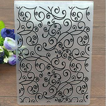 Blätter Kunststoff Prägung Ordner für Diy Scrapbooking Papier Handwerk /Card Making