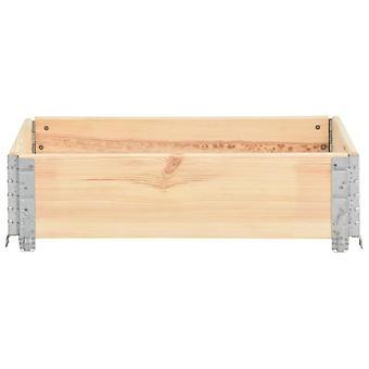vidaXL Pallet top frame 60×80 cm Pine solid wood