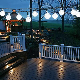 Solar garden lights 7m 50 led 8 modes for indoor / outdoor (clear white) dt5935