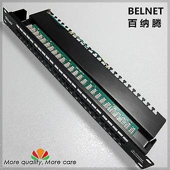 25-porte Telefon Stemme Patch Panel 19-tommer, Patch Panel Distribution Frame