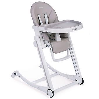 Barnstol + gungstol i 1 – Justerbar & Vikbar – Grå
