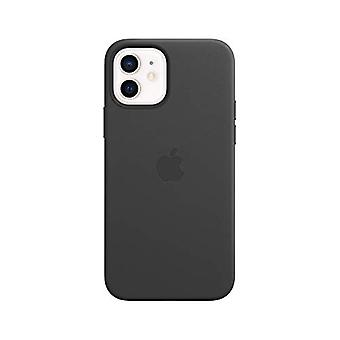 Custodia in pelle Apple con MagSafe (per iPhone 12 | 12 Pro) - Nero