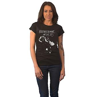 Fleetwood Mac T Shirt Rumours Band Logo new Official Womens Skinny Fit Black