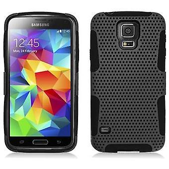 Aimo Hybrid Case for Samsung Galaxy S5 - Black/Black