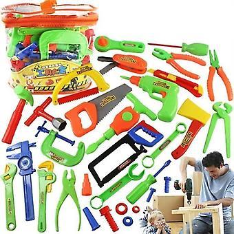 Lelu korjaus työkalu pelata asettaa vasara ruuvimeisseli pultti lapsi oppiminen johdoton pora