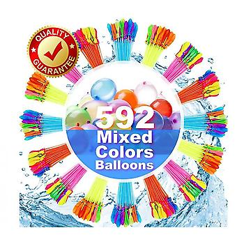 592pcs Rapid-fill Water Balloons Multi-colored