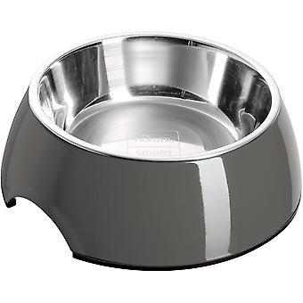 Melamin-Napf, Futter- und Trinknapf für Hunde und Katzen, mit herausnehmbarem Edelstahlnapf,