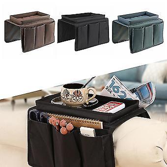4ポケットとカップホルダートレイソファアームチェア付きハンギング収納バッグソファアームレストオーガナイザー