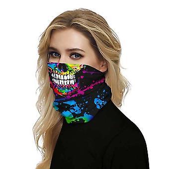(Peinture crâne) Fonction complète Masque facial Tube De Col Cyclisme Snood Écharpe Bandana