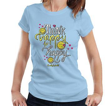 Smiley World Think Happy Be Happy Women's T-Shirt