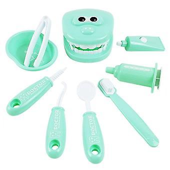 Hammaslääkäri tarkistaa hampaat malli