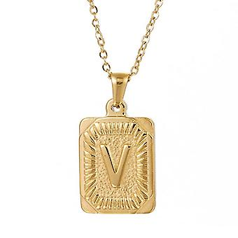 """925 Silve Initial Alphabate """"V""""Letter Necklace - 20 inch"""