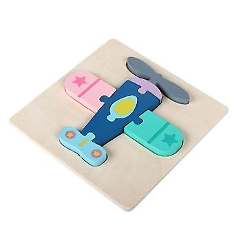 3D wooden puzzle baby montessori toys toddlers children early educational cartoon animal intelligence puzzle jigsaw high quality
