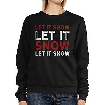Lassen Sie es Schnee-Sweatshirt-Cute Weihnachten-Pullover-Fleece-Pullover