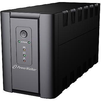 PowerWalker VI 2200 SH UPS, 2xSchuko, 2200 VA, 0.55 OF, black