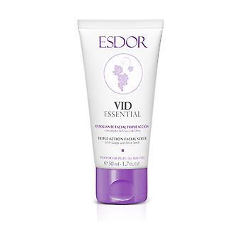 Vid essential triple action facial scrub 50 ml