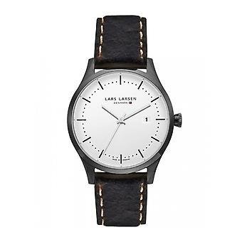 LLarsen (Lars Larsen Brown Genuine Leather) 119CSDBL Men's Watch