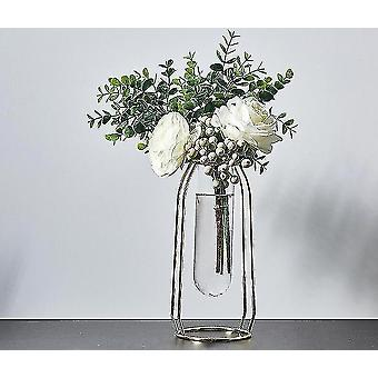 Vases nordic style gold plated eco friendly metal decor vases with flowers golden height 24cm10