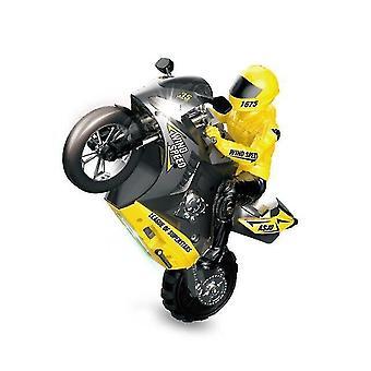 Kauko-ohjattava moottoripyörät kaukosäädin rc moottoripyörä temppu auto ajoneuvo mallit rtr suuri nopeus 20km/h 210min käyttöaika keltainen