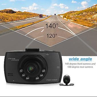 1080p 2,7 palcový hd lcd dvojitý objektív auto dash kamera video Dvr Cam Recorder