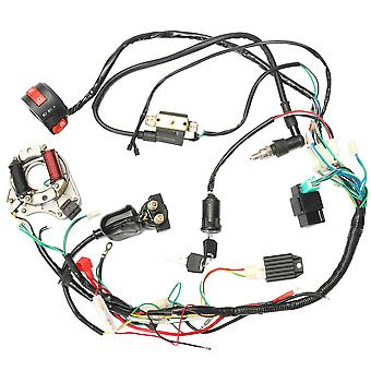 1 Set 50 70 90 110cc Cdi Wire Harness Assembly Wiring Kit Atv Electric Start Quad Cdi Wire Harness Assembly Wiring Ignition Switch Set