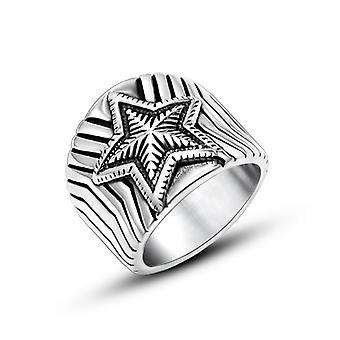 Anelli in acciaio in titanio creativo personalizzati Star Style Anello accessori uomo Sa967