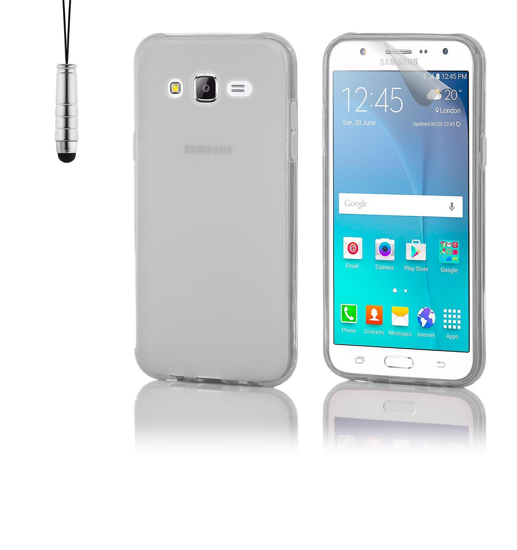 Crystal Gel case + stylus for Samsung Galaxy J5 (2015) SM-J500 - Clear