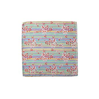 Knightsbridge Luxurious Summer Stripe And Floral Silk Pocket Square